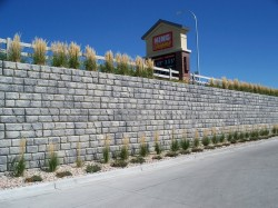 Example of a pre-fabricated retaining wall system that would need approval to be used by Ohio DOT