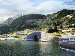 Rendering of proposed ship tunnel in Norway