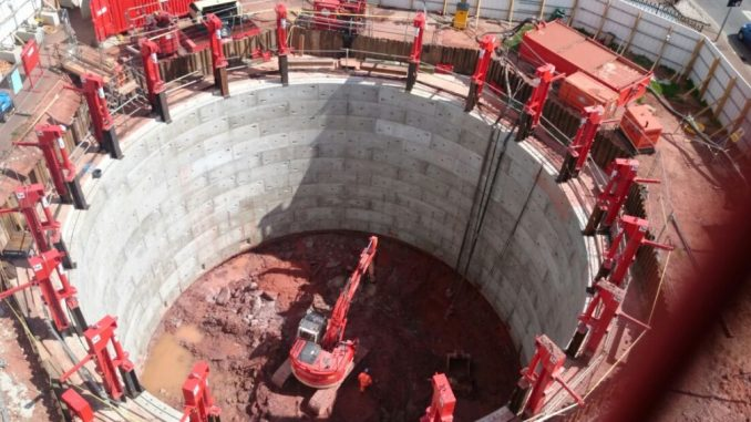 Abbey Park Project - 20 m diameter shaft (Alan Auld Group)