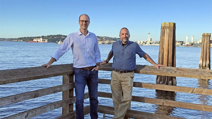 Alex Rutledge, PE, PG, and Robert Indri, PE of Schnabel Engineering's New Seattle Office