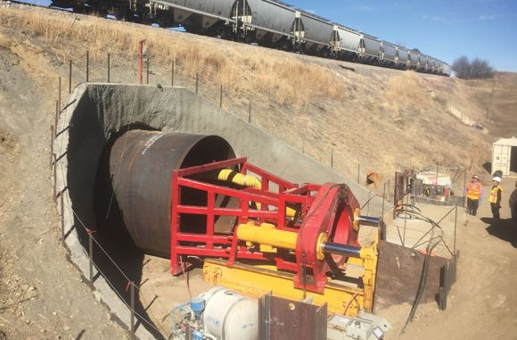 Ft. Collins area trail tunnel being constructed beneath the BNSF railroad