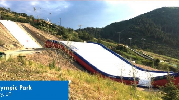 Geocell was used to create a steep ski jump in-run at the Utah Olympic Park in Park City, UT