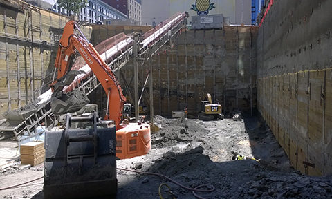 Tower 12 Project temporary excavation in Downtown Seattle, credit: Terracon
