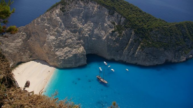 Shipwreck Beach on Greek Island of Zakynthos