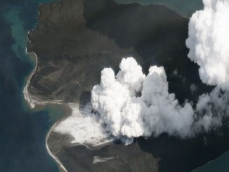Anak Krakatoa in early January, 2019 - BBC