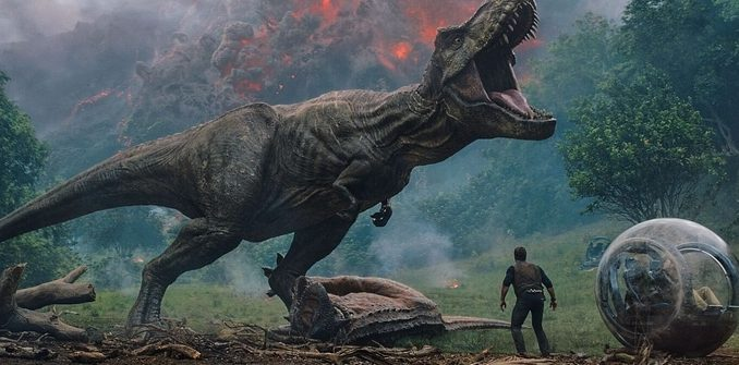 Dinosaurs vs Volcano - Jurassic World: Fallen Kingdom; © Universal Pictures, Fair Use
