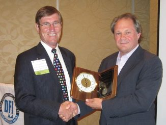 Jean-Louis Briaud (left) honored for his 2013 Osterberg Memorial Lecture