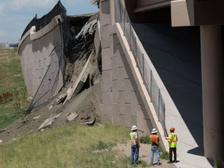 Failure of MSE retaining wall on US 36 between Denver and Boulder