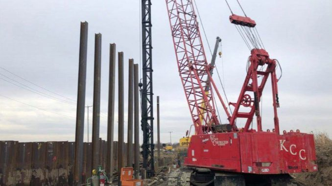 H-Piles on the Hurrican and Storm Reduction Project - Phase II in New Jersey