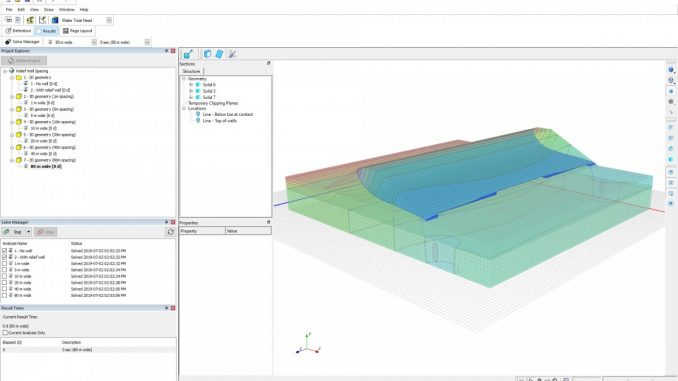 3D seepage model in GeoStudio