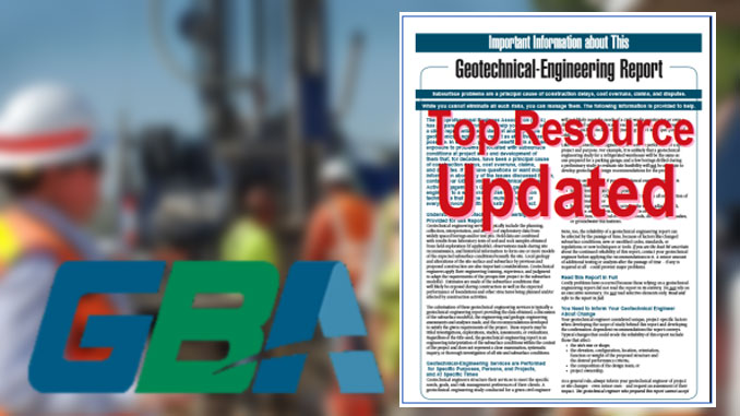 GBA Important Information About Your Geotechnical Report - Updated