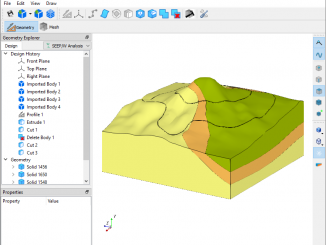 GeoStudio's 3D Editor Interface