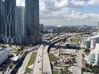 Signature Bridge construction in Miami