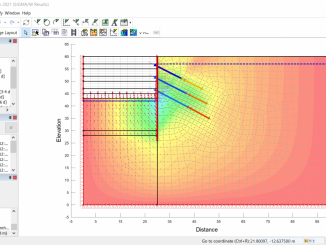 Sequential analysis of an excavation with a tie-back wall in GeoStudio Sigma/W