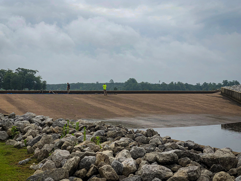 Neshoba Spillway Remediation using TerraThane Polyurethane Grout