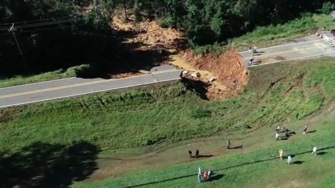 Fatal landslide in George County, Mississippi after Hurricane Ida, credit Travis Long